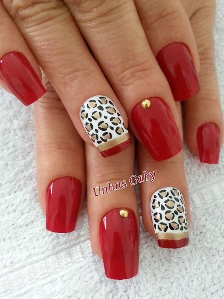 Ногти с красным лаком дизайн